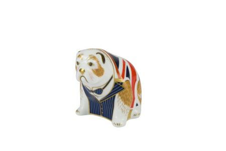 Royal Crown Derby Churchill bulldog paperweight