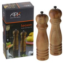 Arthur Price Pair of luxury wooden salt and pepper mills