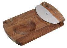 Arthur Price Luxury wooden Mezzaluna and chopping board