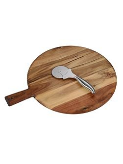 Luxury wooden Pizza board and pizza cutter set