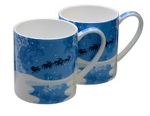 Arthur Price Pair of Christmas mugs Sleighride