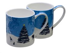 Arthur Price Pair of Winter Wonderland mugs