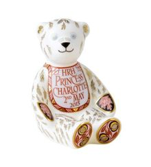 Royal Crown Derby Princess charlotte bib bear ornament