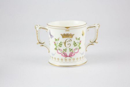 Royal Crown Derby Princess charlotte - loving cup ornament