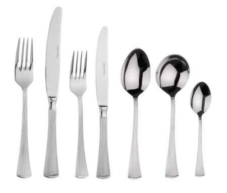 Arthur Price Arctic stainless steel 44 pce cutlery set for 6