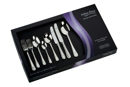 Arthur Price Bead 44 Piece cutlery box