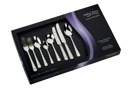 Arthur Price Grecian 44 piece cutlery box