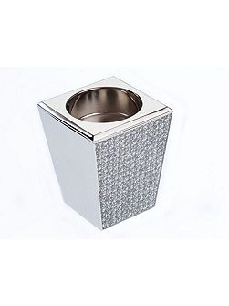 Silver plated diamante candle holder