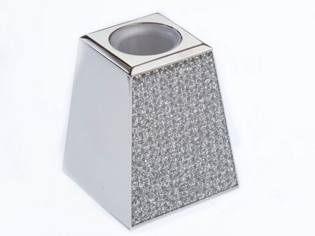Arthur Price Silver plated diamante candle holder