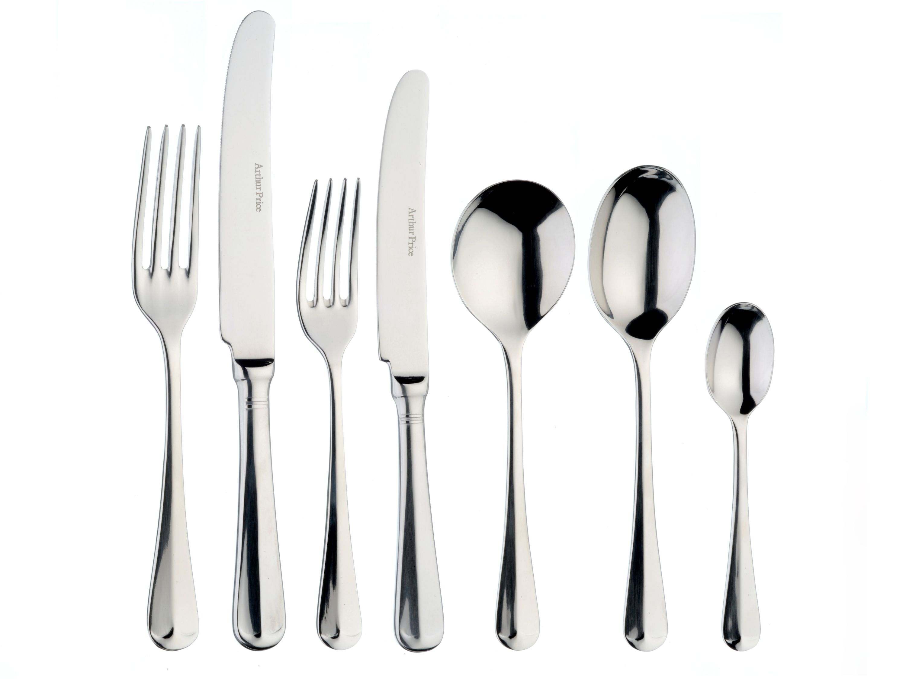 Arthur Price Rattail 44pce stainless steel cutlery set for 6