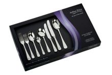 Rattail 44pce stainless steel cutlery set for 6