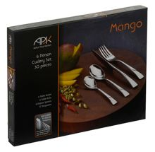 Mango 30 piece 6 person stainless steel box set
