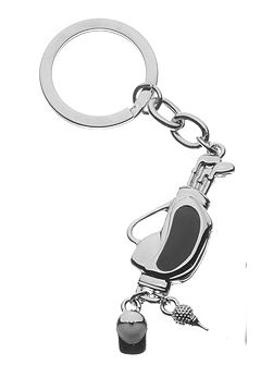 Golf club key ring