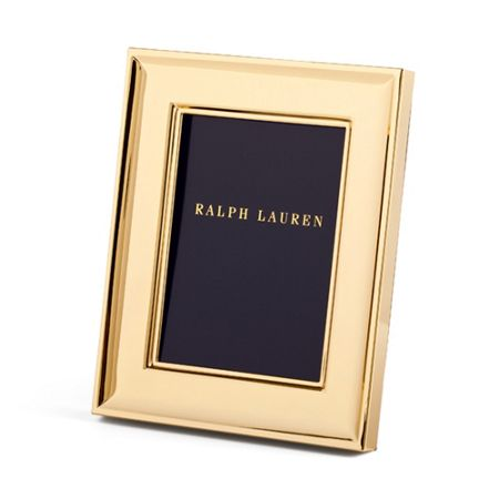 Ralph Lauren Home Cove photo frame 5 x 7 gold plated
