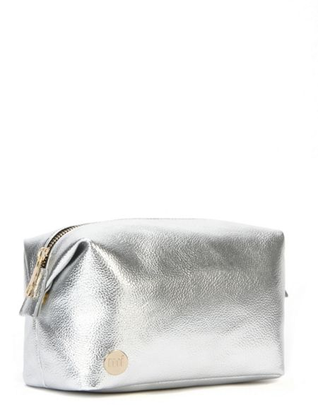 Mi Pac Metallic silver wash bag