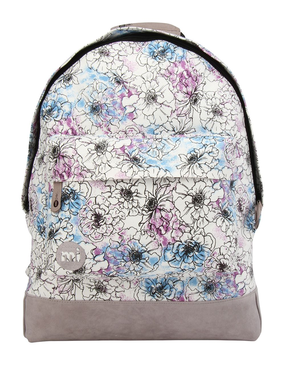 mi pac Mi Pac Unfinished floral backpack, Cream