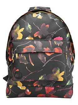 Watercolour floral backpack