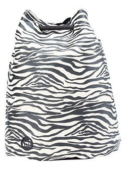 Canvas zebra swing bag