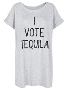 Ann Summers Tequila oversized tee