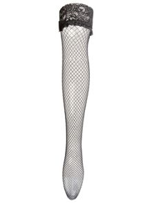 Ann Summers Lace top fishnet hold up