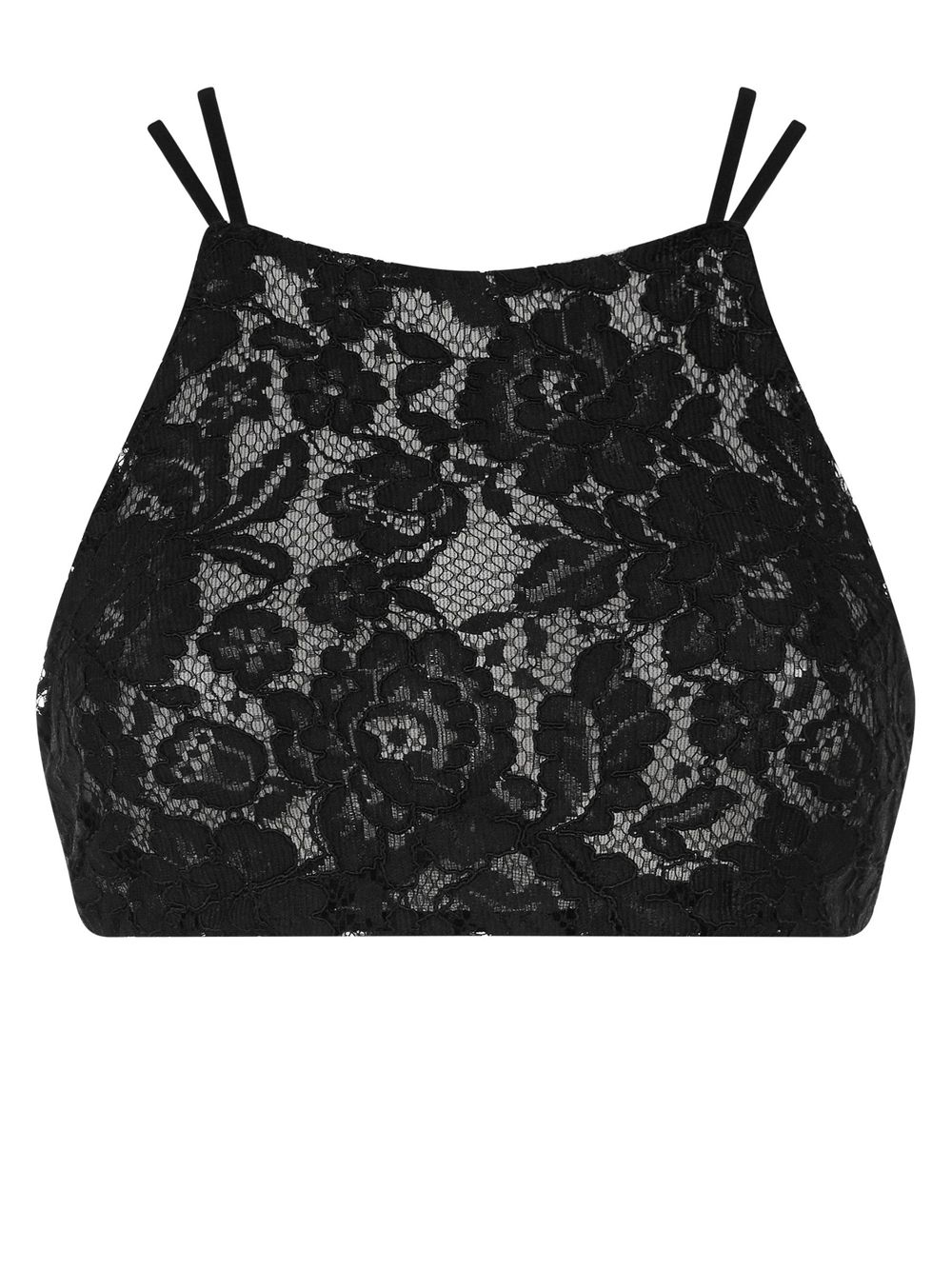 Ann Summers Lowe lace crop top Black