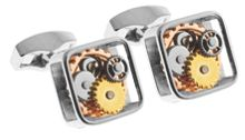 Brass Gift Ideas Rodium Plated Cufflinks