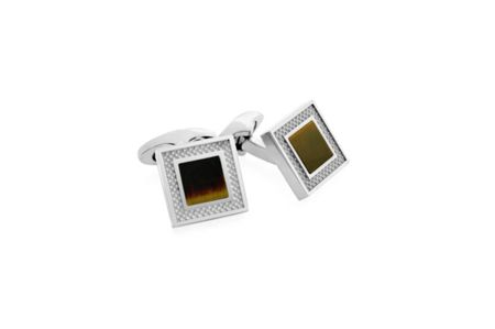 Tateossian Titanium Gift Ideas Tiger Eye Cufflinks