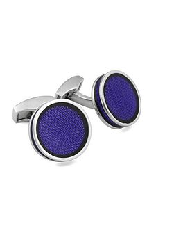 Brass Enamel Rodium Plated Cufflinks