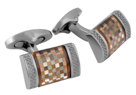 Tateossian Titanium Tiger Eye Cufflinks