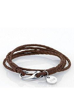 Brown jax wrap bracelet