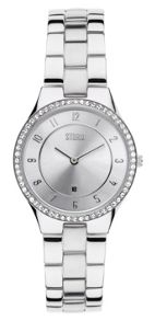 Storm Slim x crystal silver watch