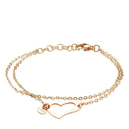 Storm Heart bracelet rose gold