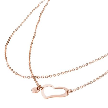 Storm Heart necklace rose gold