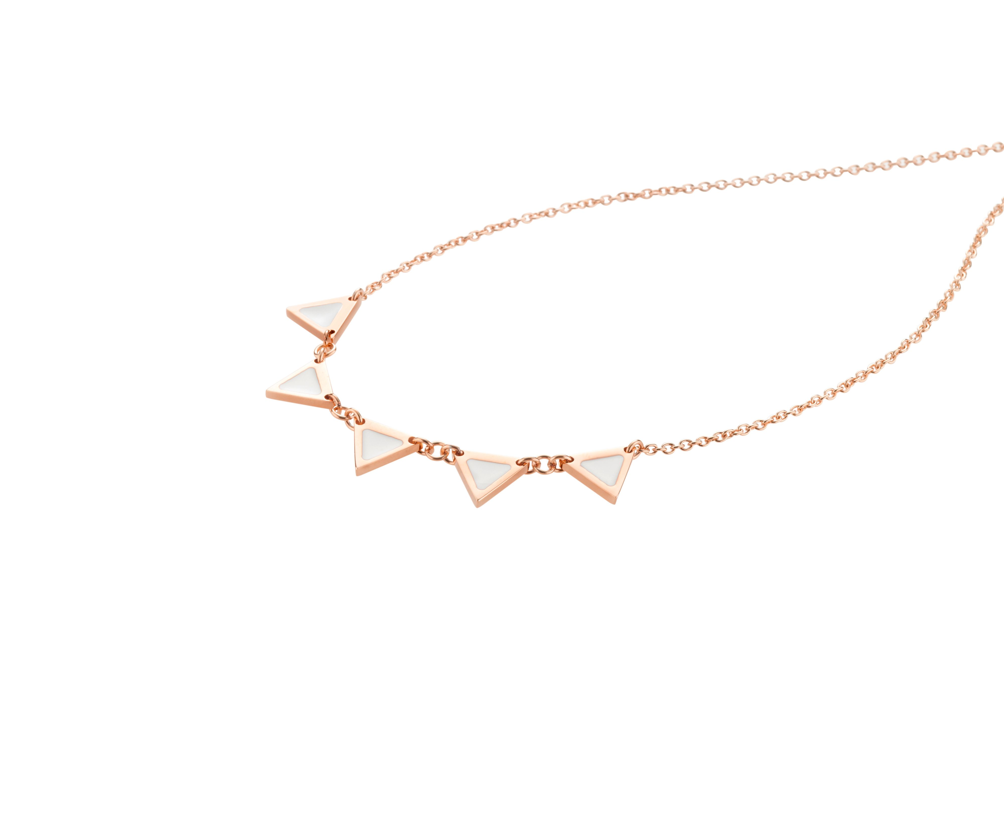 Enamelli necklace rose gold