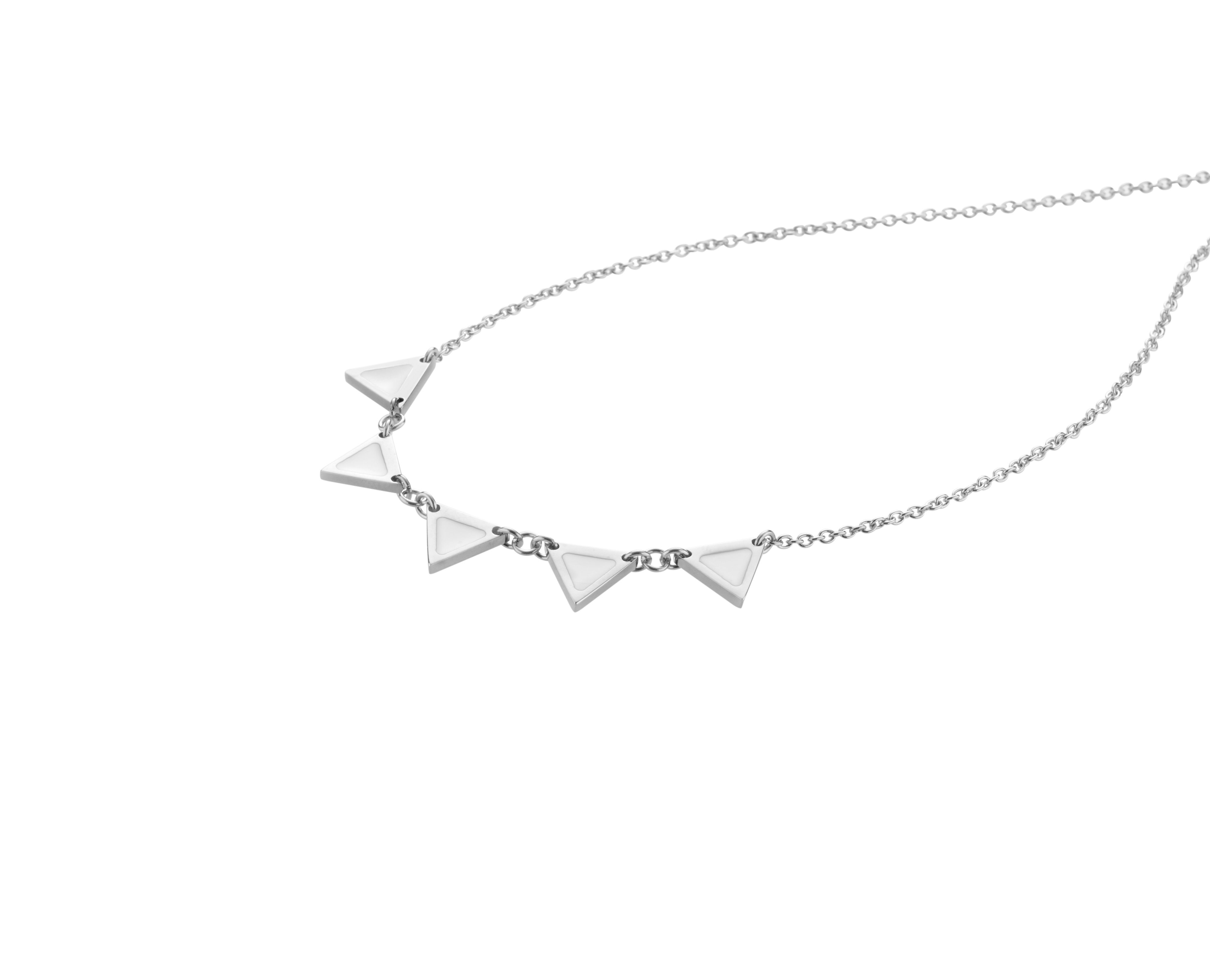 Enamelli necklace silver