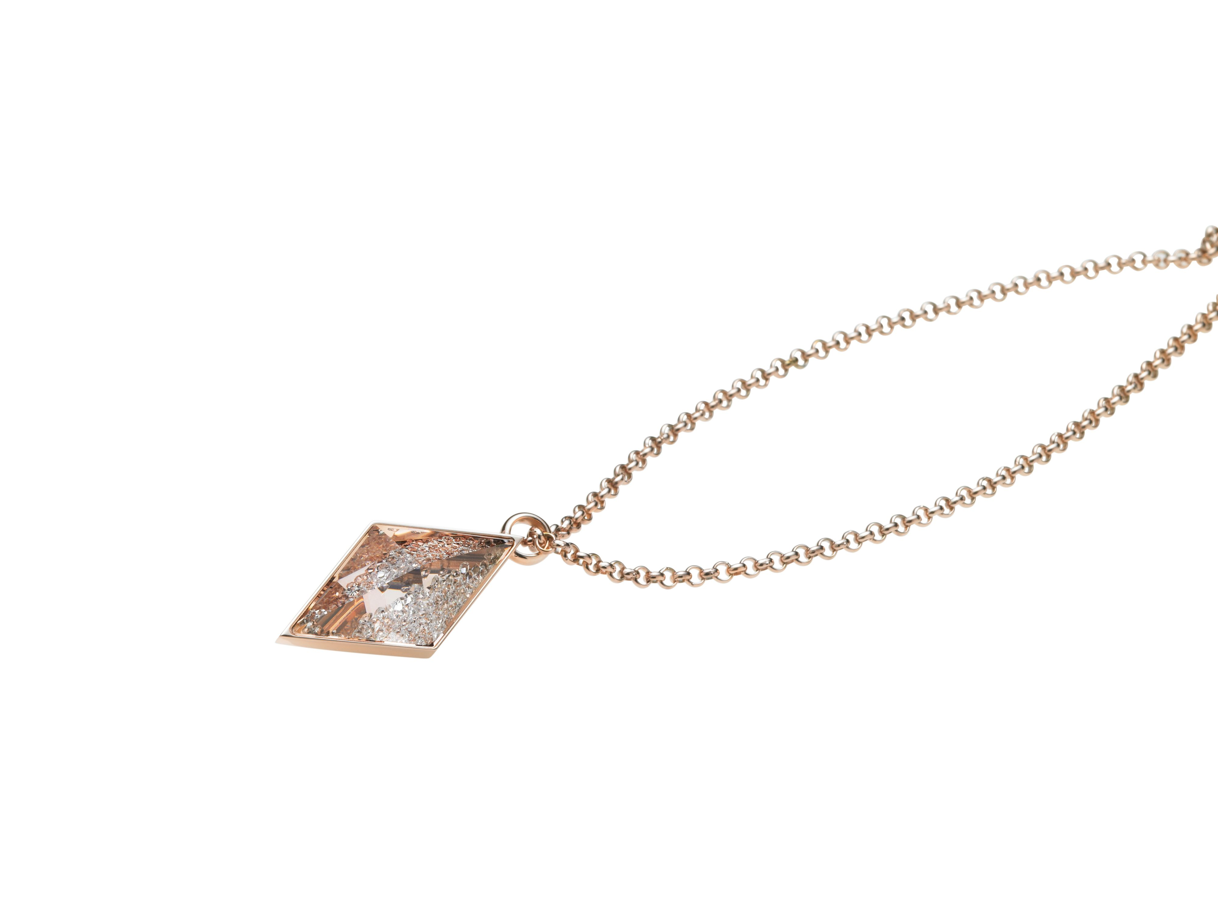 Razzle necklace rose gold