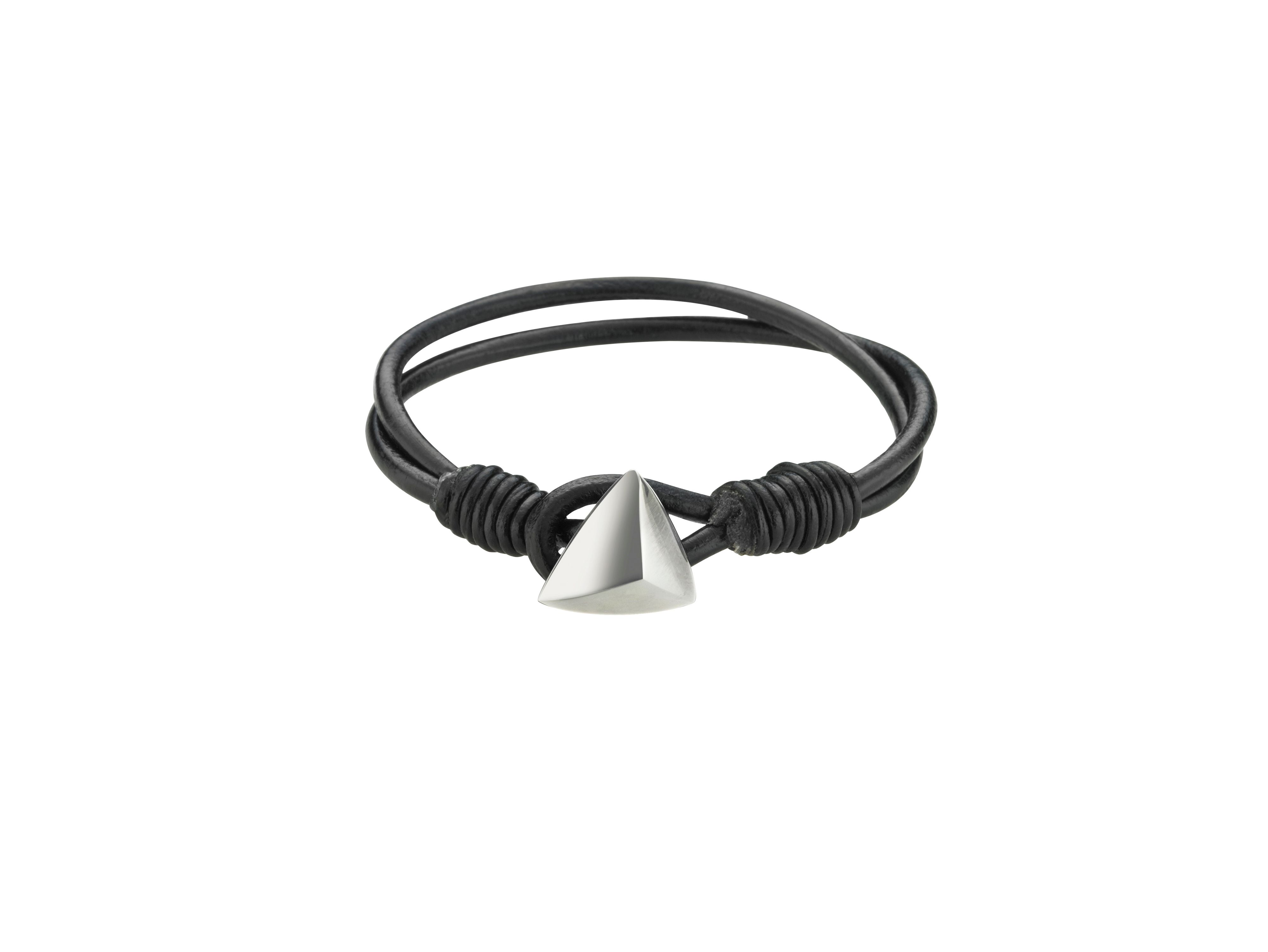 Trygo leather bracelet black