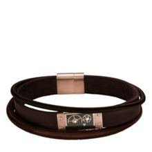 Storm Cog leather bracelet brown