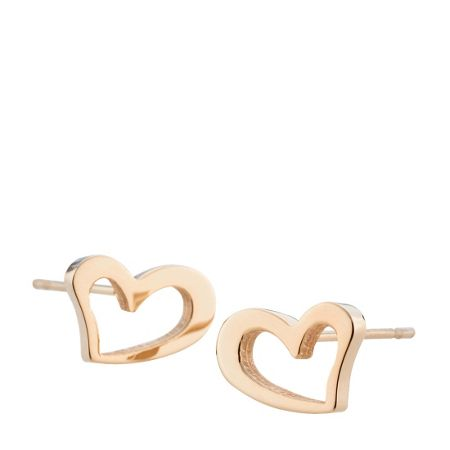 Storm Heart earrings rose gold