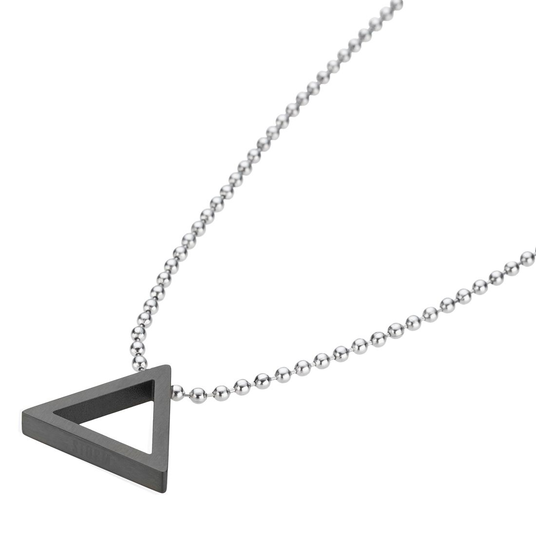 storm black trilex pendant necklace