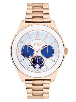 Sicily metal rose gold watch