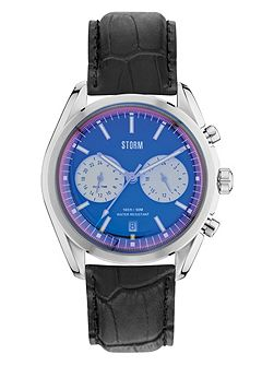 Trexon Leather Lazer Blue Watch