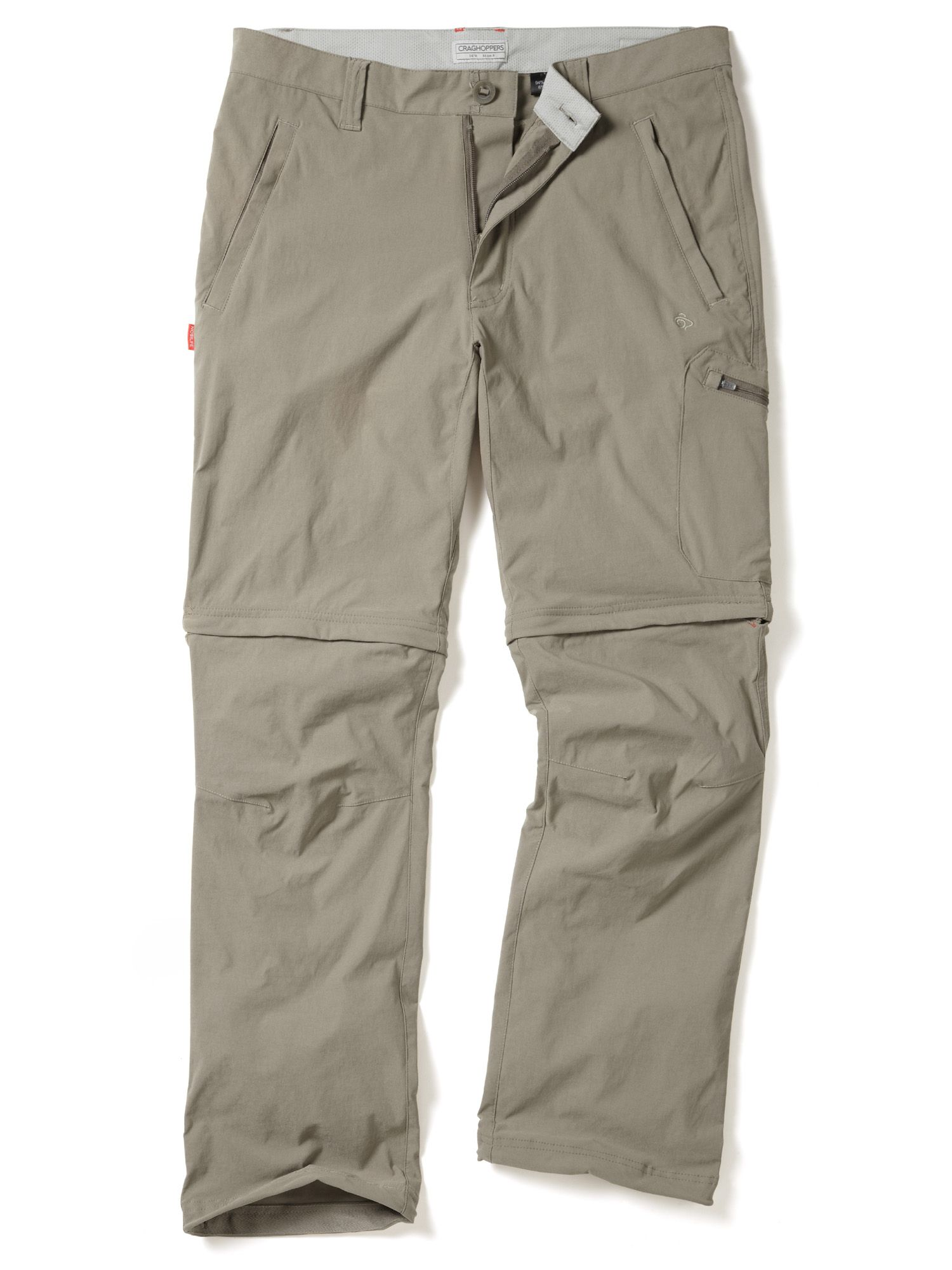 Mens Craghoppers NosiLife Pro Convertible Trousers Beige
