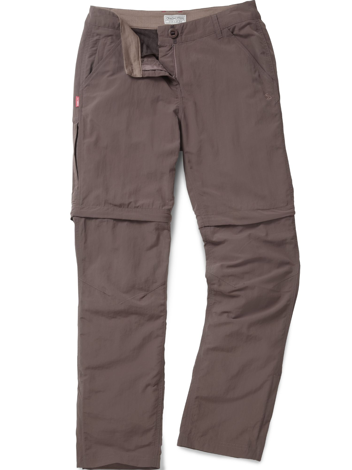 Craghoppers NosiLife Convertible Trousers, Coffee