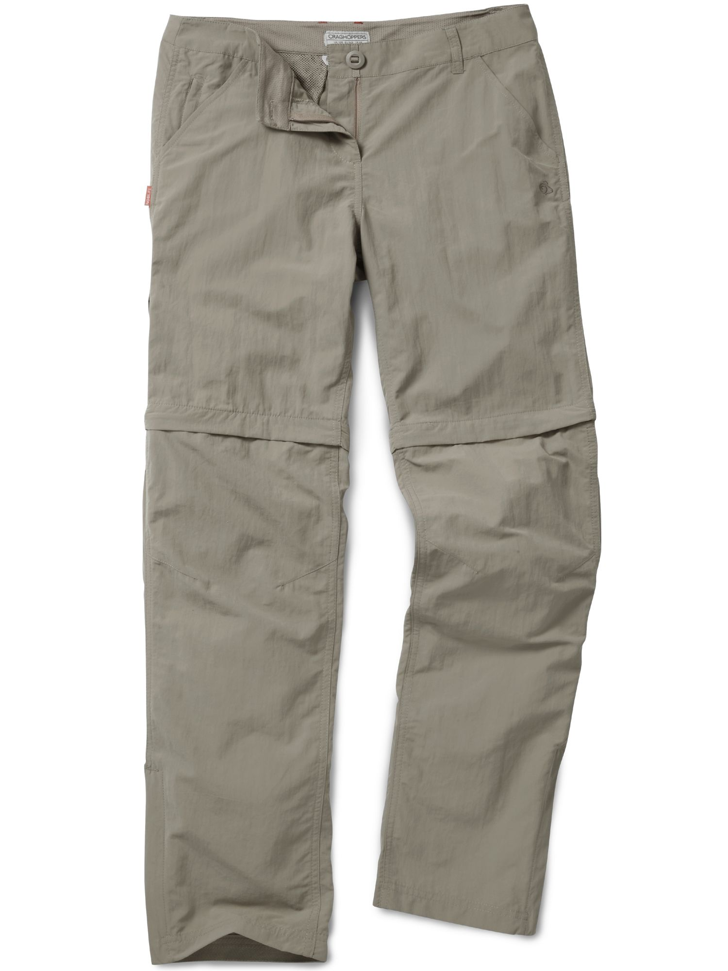 Craghoppers NosiLife Convertible Trousers, Mushroom