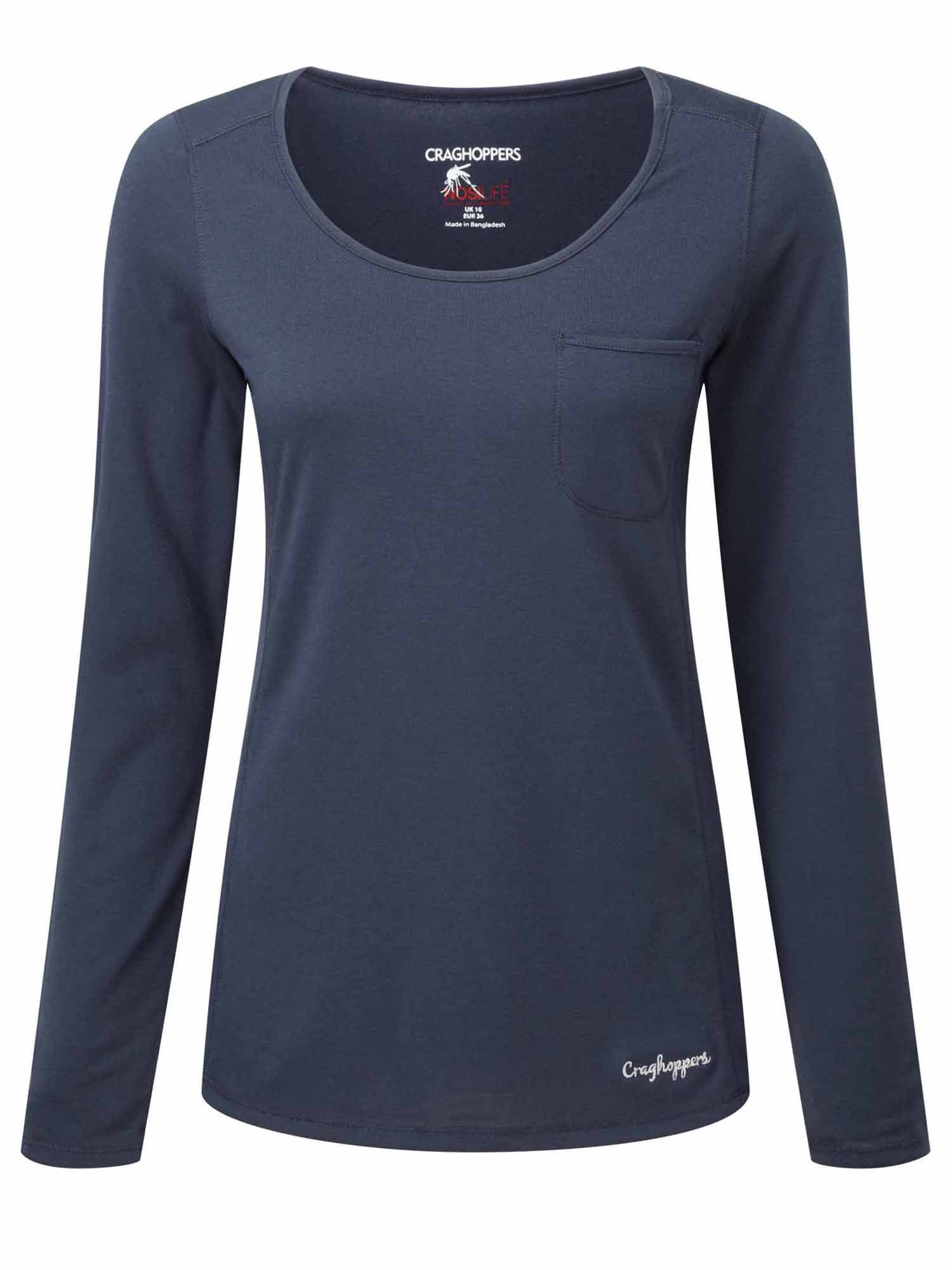 Craghoppers Craghoppers NosiLife Long Sleeved Tee, Navy
