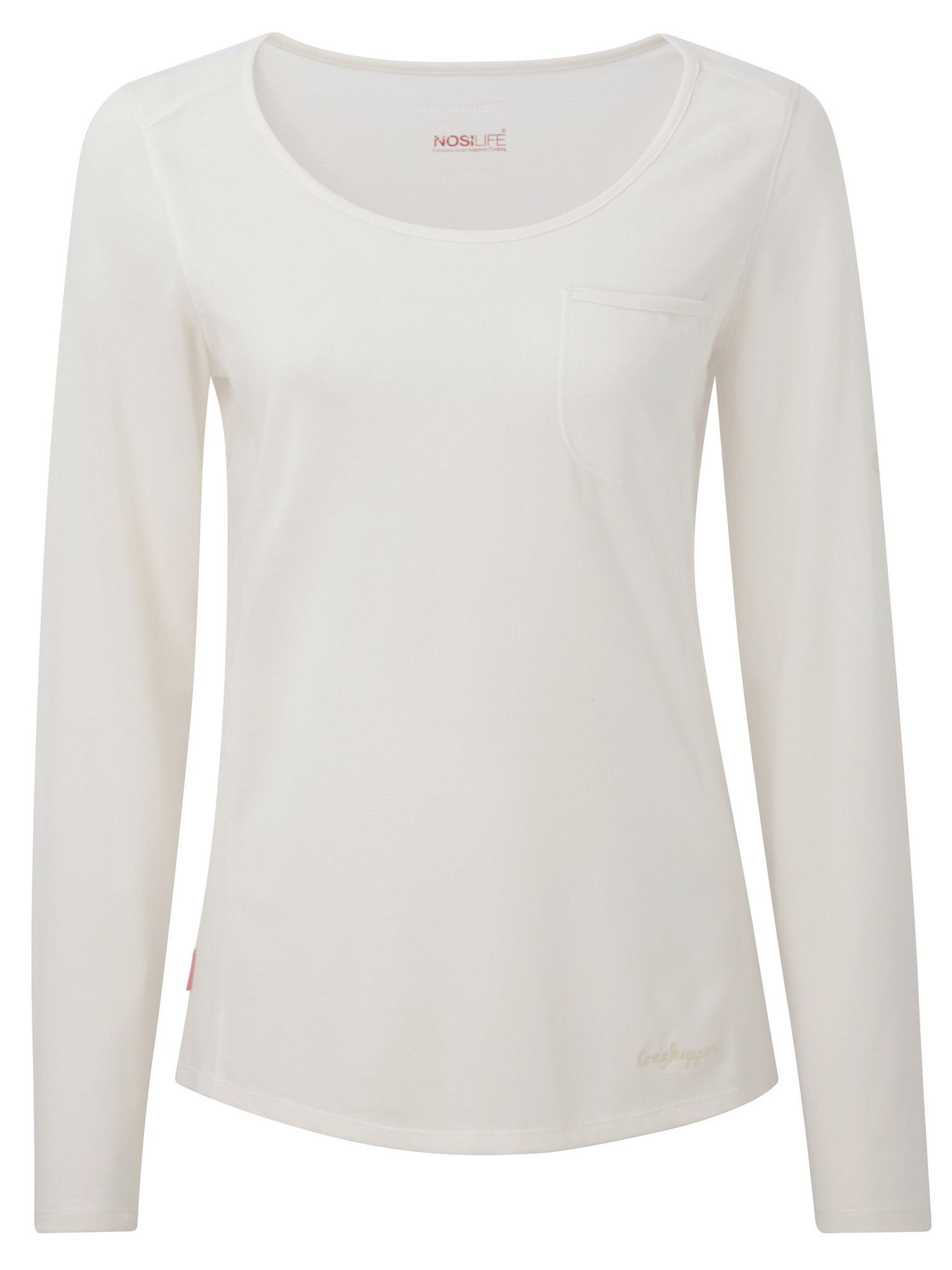 Craghoppers Craghoppers NosiLife Long Sleeved Tee, White