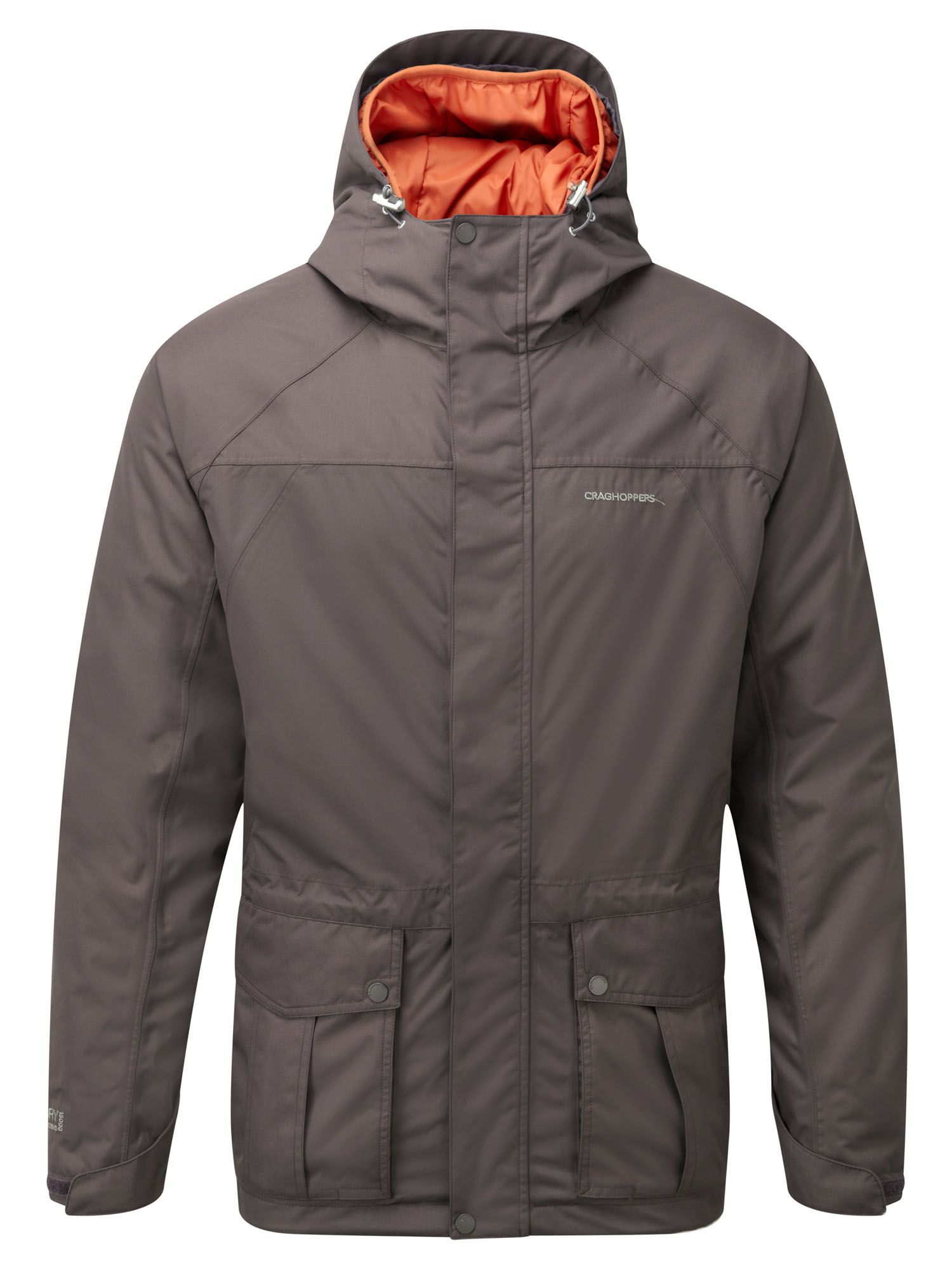 Mens Craghoppers Kiwi 3in1 CompLite Waterproof Jacket Brown