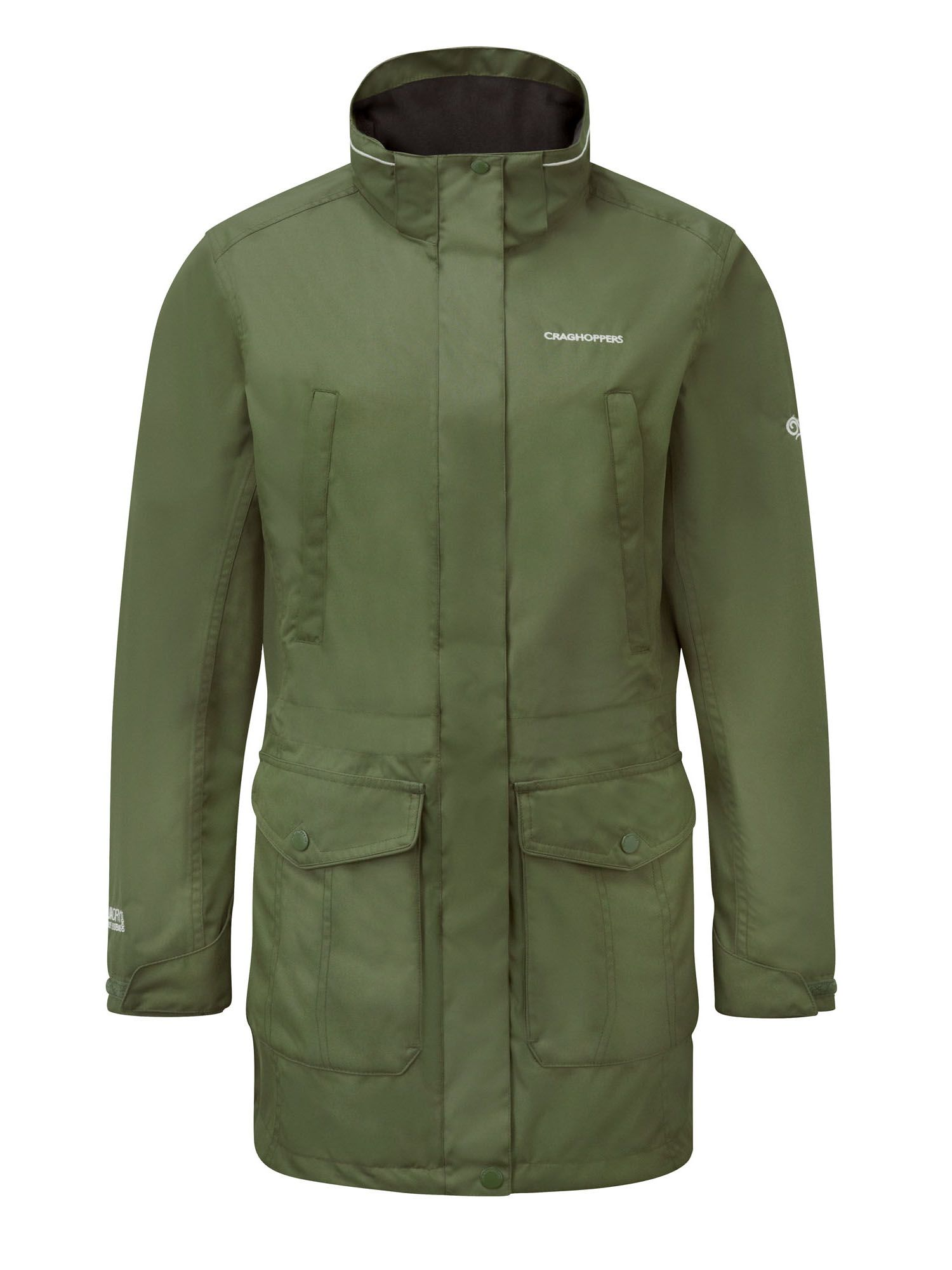 Craghoppers Madigan lll Long Waterproof Jacket, Green