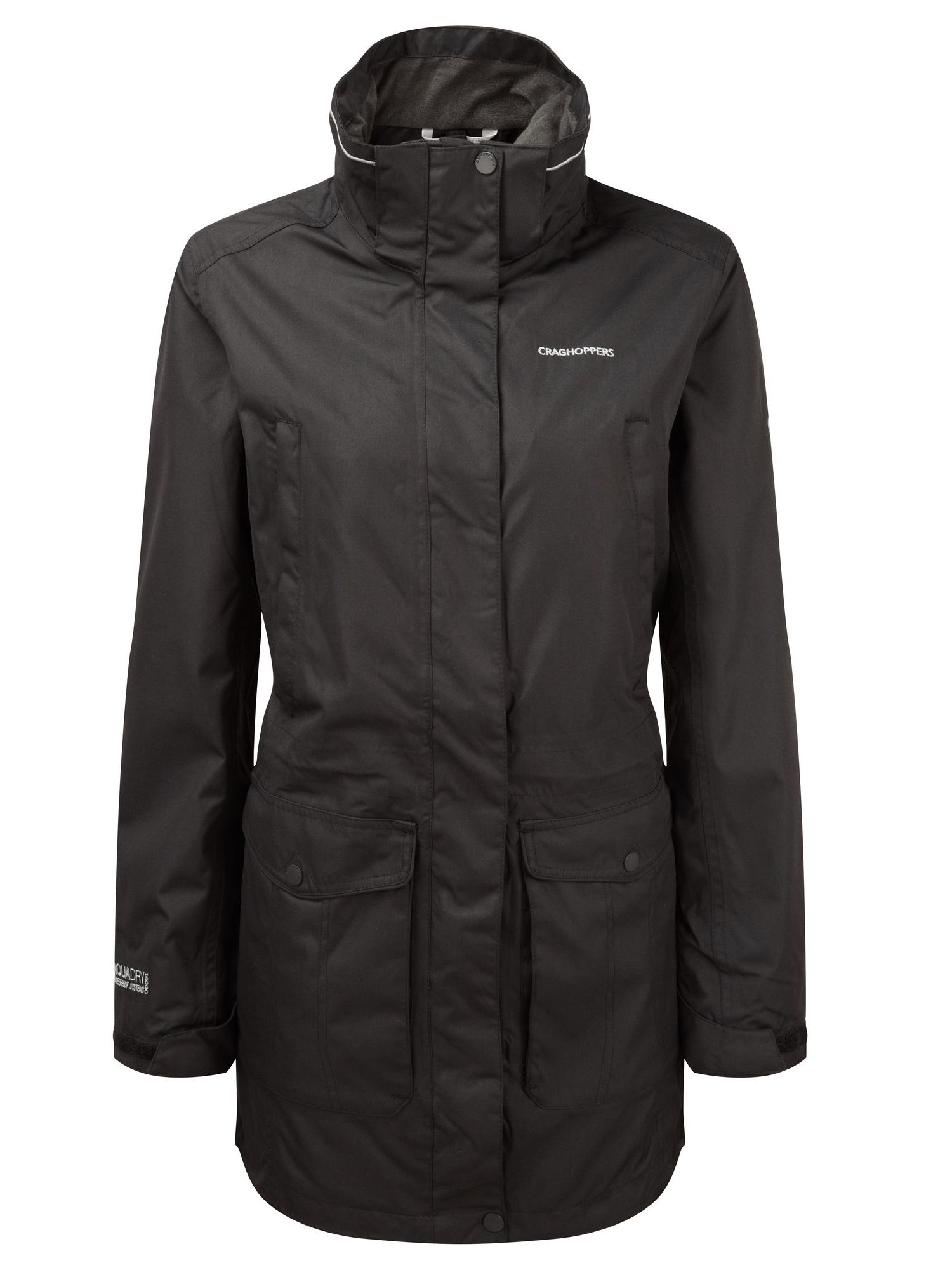 Craghoppers Madigan lll Long Waterproof Jacket, Black